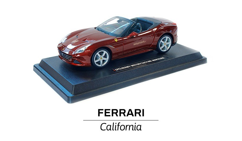 Ferrari California bordowa