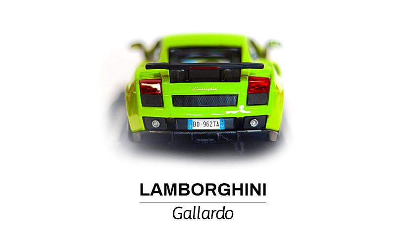 Modelik w skali 1:24 Lamborghini Gallardo z tyłu