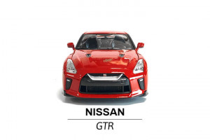 Nissan GTR modelik 1:24 przód samochodu