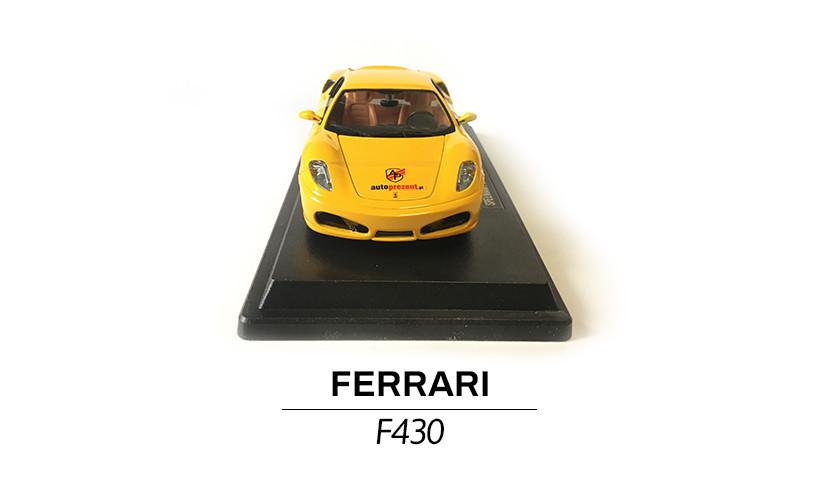 Ferrari F430 żółte modelik 1:24 przód