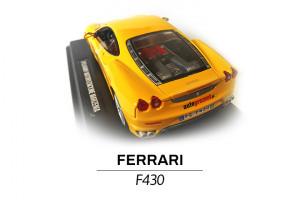 Ferrari F430 żółte modelik 1:24 tył