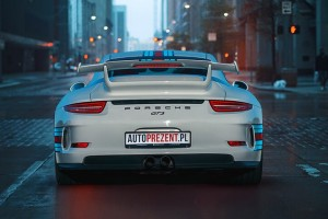 Jazda Porsche 911 gt3 991 ulicami miast