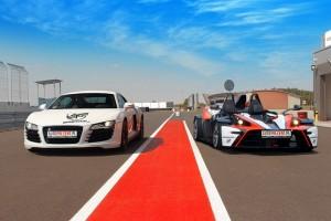 Pojedynek samochodów Audi R8 vs Ktm X-bow
