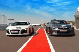 Audi R8 vs Nissan GTR