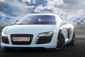 Białe Audi R8 autoprezent