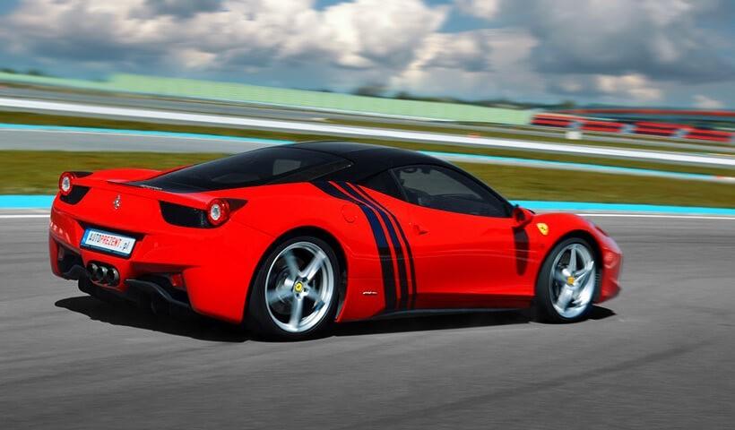Ferrari 458 Italia z tyłu