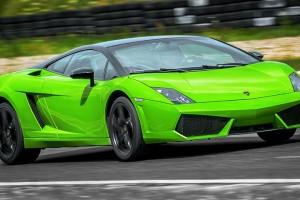 Zielone Lamborghini
