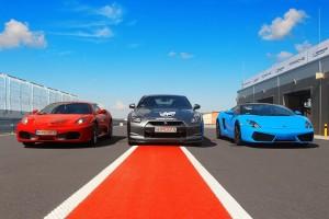 Ferrari F430 Nissan GTR vs Lamborghini