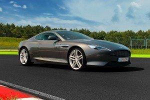 Aston Martin DB9 na torze