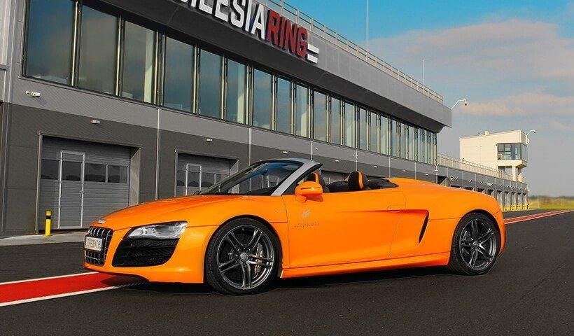 Audi R8 V10 na torze Silesia Ring