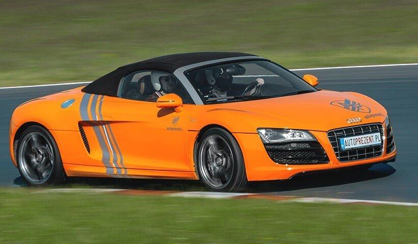 Audi R8 V10 w akcji na torze