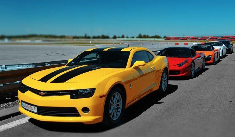 Chevrolet Camaro żółte z boku