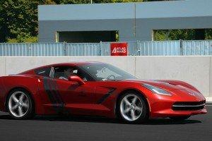 Chevrolet_Corvette_C7 przód na torze Silesia Ring