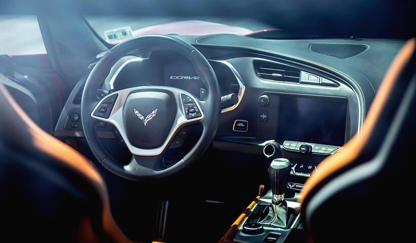 Corvette C7 wnętrze
