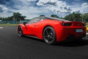 Tył samochodu Ferrari 458 italia
