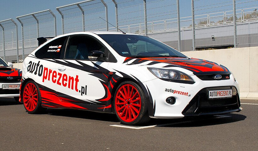 Ford_Focus_RS_mk2 na torze Silesia Ring