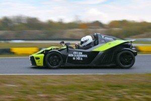 Ktm X-bow jazda po torze wyścigowym