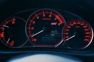 Subaru Impreza Wrx STI zegary samochodu