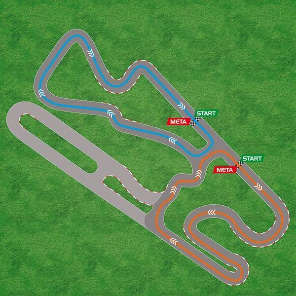 Mapa toru Silesia Ring karting